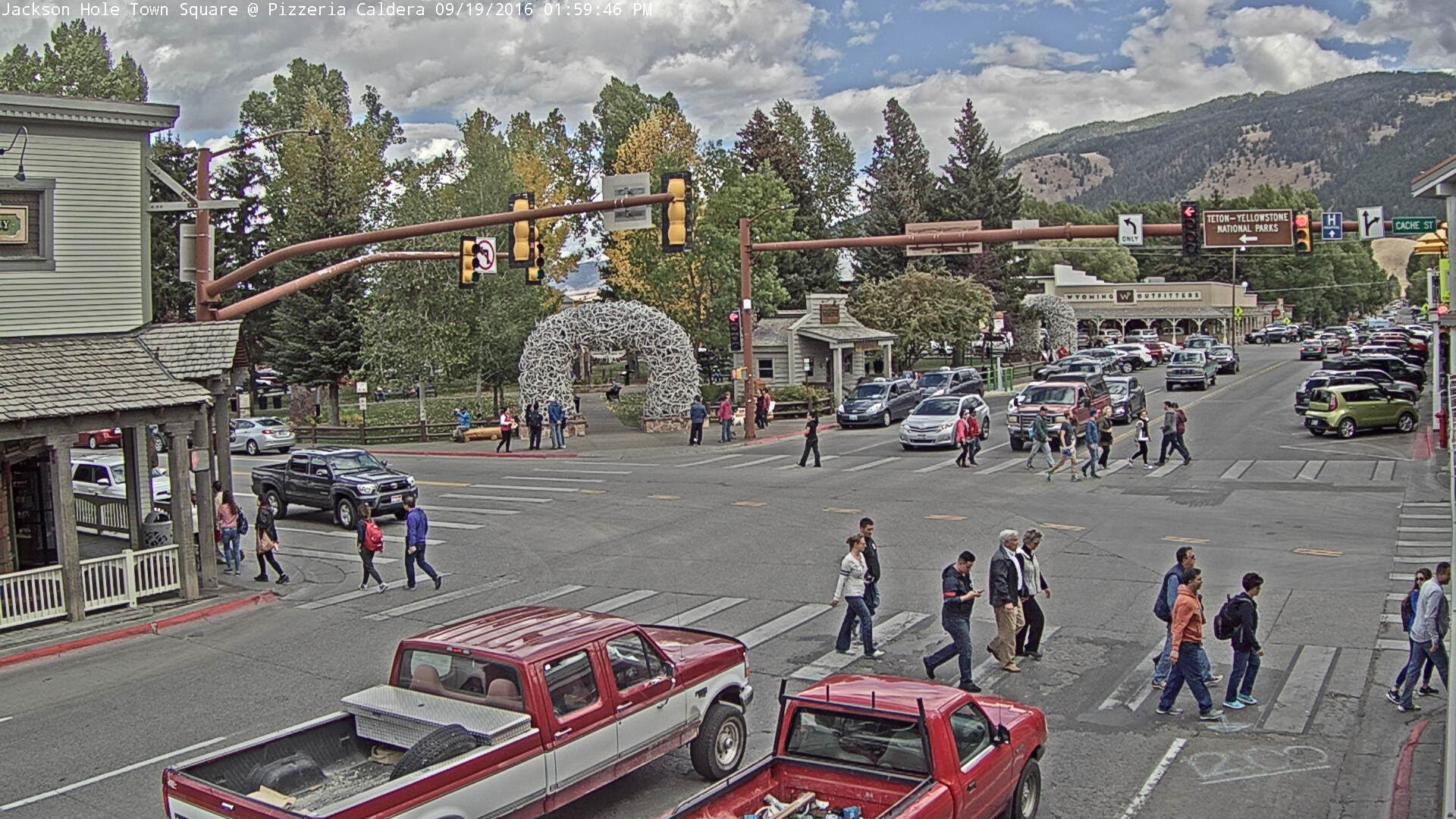 Jackson hole wyoming usa town square youtube for What to do in jackson wy