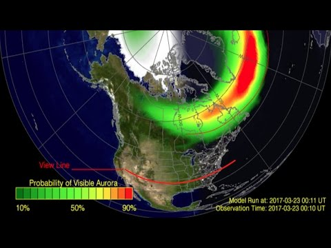 *Aurora Alert* Possible Deep Dive into the Mid Latitudes of USA!   STRONG Solar Wind!