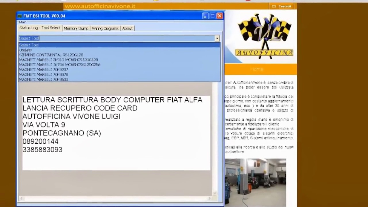 Schema Collegamento Obd : Software fiat alfa lancia body computer youtube