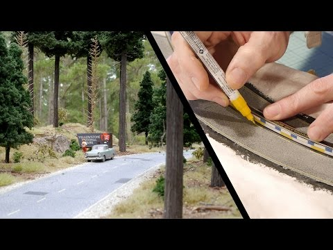 This guy creates super realistic model railroads and scenery, and it's absolutely mesmerizing to watch him create his art