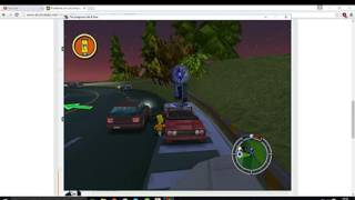 Como superar el Bug del Observatorio con Bart y Lisa en los Simpsons HIT AND RUN PC