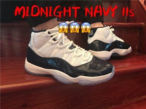 ... order first look air jordan 11 midnight navy 378037 123 on feet review  3e597 815d1 e3a8b0036