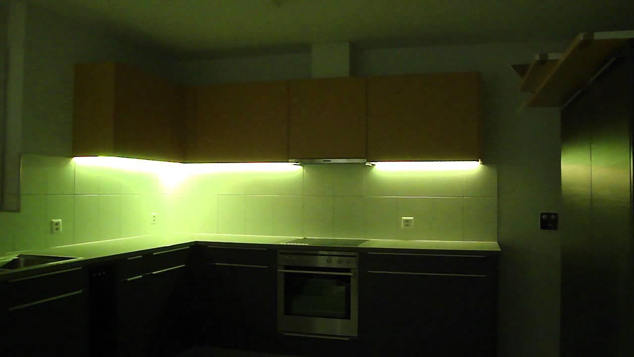 RGB LED Küchen-Unterschrankbeleuchtung - YouTube
