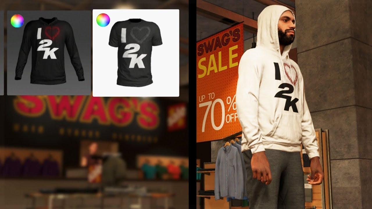 wholesale dealer d949c ace84 NBA 2K19 - MyPlayer Store feat. Hoodies, Shirts, Pants, Accessories &  MORE!!!