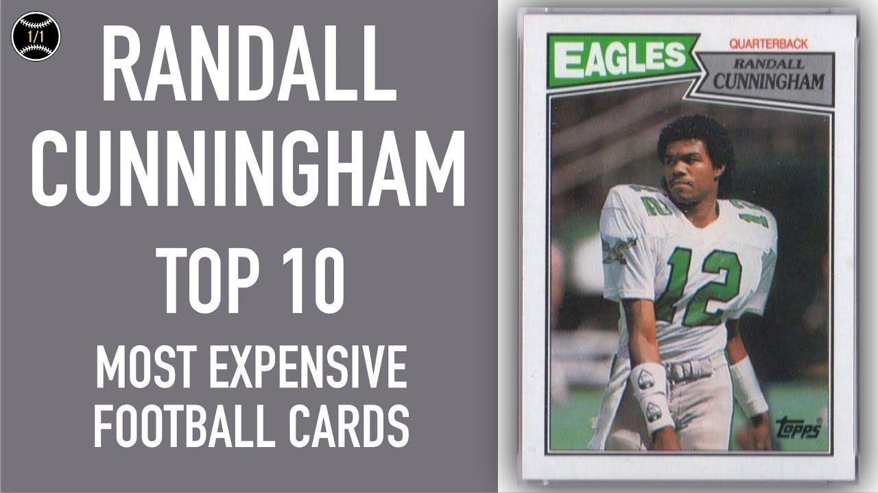 hot sale online 7b7bb e91b9 Randall Cunningham: Top 10 Most Expensive Football Cards Sold on Ebay  (December - February 2019)