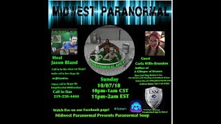 Paranormal Soup ep 155 guest Carla Wills-Brandon
