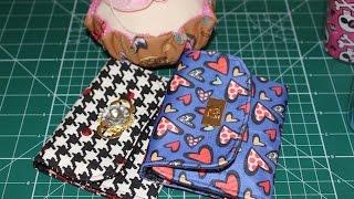 Carteira de tecido simples – Rosa Mutuca