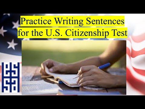 U.S. CITIZENSHIP WRITING PRACTICE - PART 2