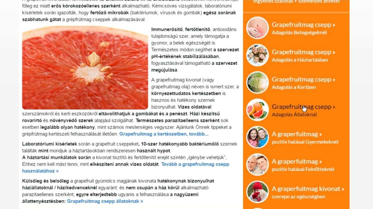 grapefruit csepp belféreg)