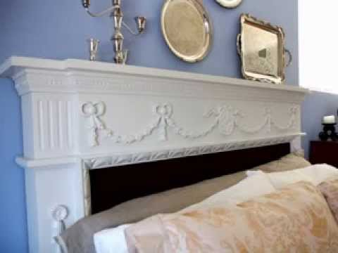 homemade diy headboard ideas for queen beds - youtube