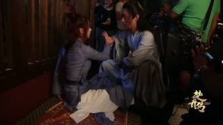 BTS花絮 楚乔传  Princess Agents Douxiao Complains that Chuqiao is too heavy