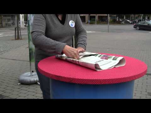 video biojätepussi sanomalehdestä ID 27458