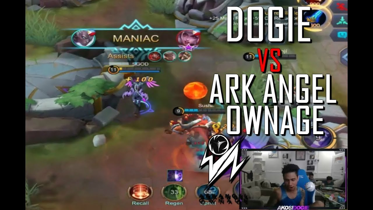 DOGIE KARRIE VS ARK ANGEL OWNAGE - MANIAC - 1000 DIAMONDS GIVEAWAY - GAMEPLAY - MOBILE LEGENDS RANK