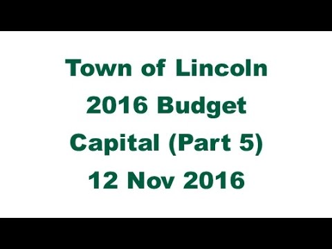 2016 Capital Budget - Part 5 (12 Nov 2016)