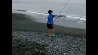 初めてのサーフ 投げ釣り。。。。
