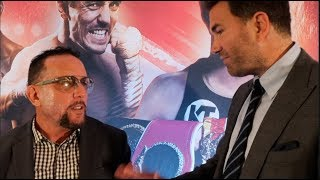 'I CANT GIVE YOU A REMATCH CLAUSE!' -EDDIE HEARN IS APPROACHED BY BRIAN COHEN, AS DEBATE CONTINUES