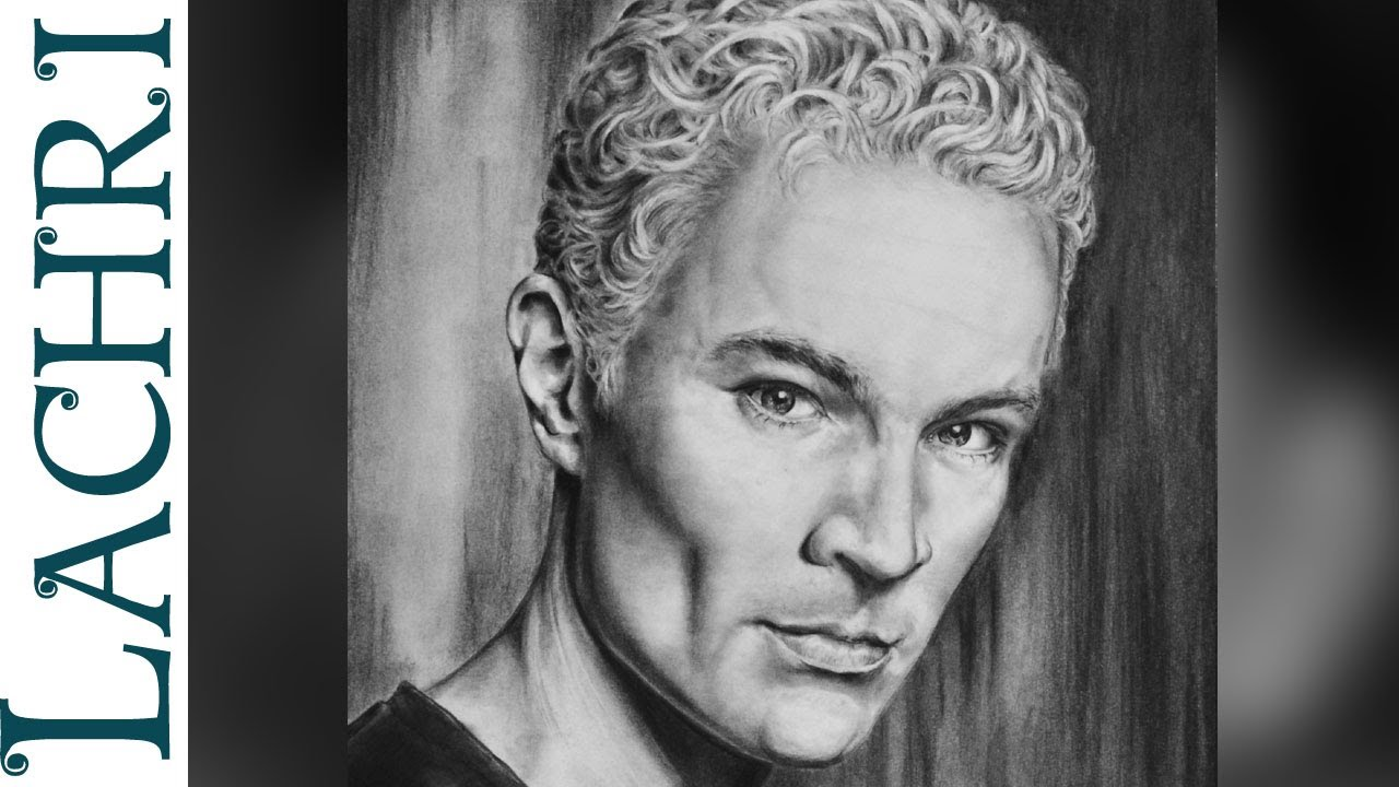time lapse  u0026quot james marsters u0026quot  as spike  u0026quot buffy the vampire slayer u0026quot  speed pencil drawing by lachri