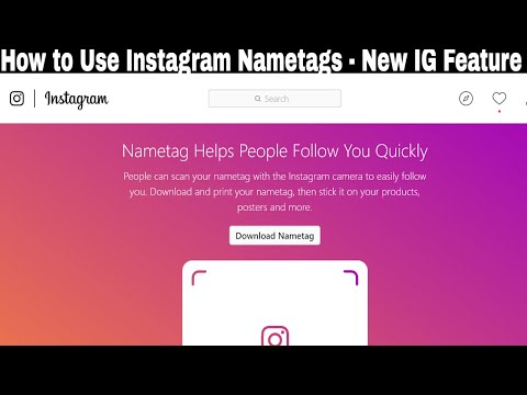 How to Use Instagram Nametags || New IG Feature October 2018