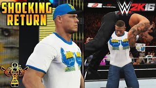 "RAW April 4th after Mania: John Cena ""World Life"" shocking Return V2 - WWE 2K16 (PS4/XBOX ONE)"