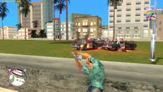 GTA Vice City Rage 4 - Война с полицией, падение с маяка
