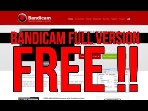 how to get full version of bandicam free