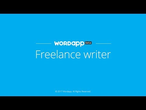 Wordapp freelance writer