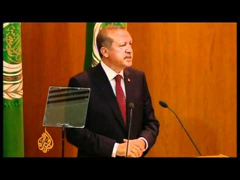 Turkish PM slams Israel at the Arab League