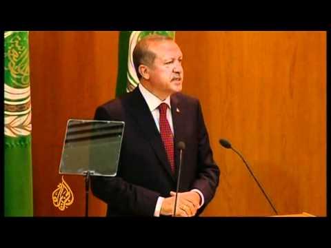 Turkish PM Slams Israel At The Arab League