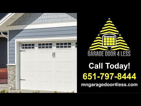 Garage Door 4 Less Blaine Mn Garage Door Repair Youtube