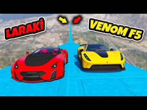 Laraki vs Venom F5 Arabalar 4 Farklı Uçma Parkurunda – GTA 5