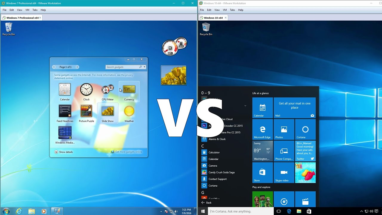 Comparing windows 10 to windows 7 youtube for R rating for windows