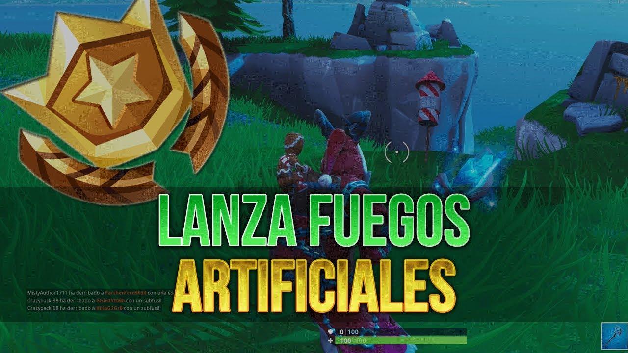 Fortnite Lanza Fuegos Artificiales Desafios De Temporada 7