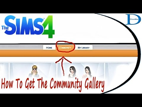 How To Get The Community Gallery Tab In The Sims 4