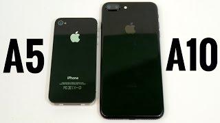 iPhone 4S vs iPhone 7 Plus A5 vs A10