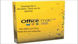 Office Mac Home and Student 2011 download