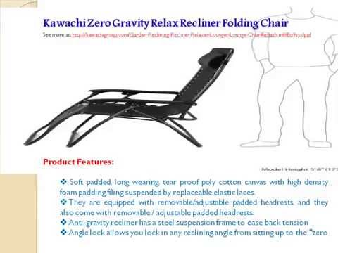 sc 1 st  YouTube & Kawachi Zero Gravity Relax Recliner Folding Chair - YouTube islam-shia.org