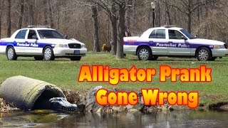 Alligator Prank On Cops!!!
