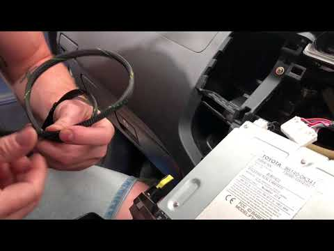 DIY Install Switch To Activate Toyota Reverse Camera Anytime - YouTube