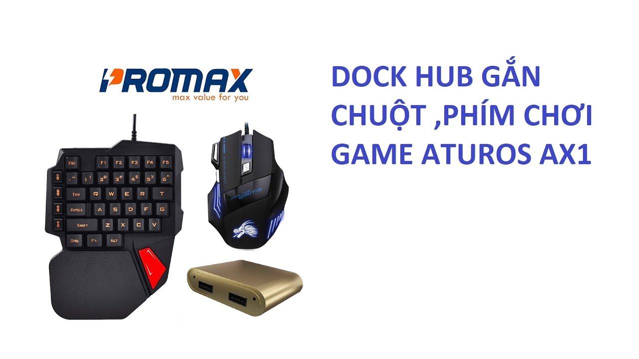 Combo Bàn phím bán cơ Aturos K108 và Dock Hub AX1 kèm chuột Dragon