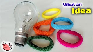 Best Idea Out Of Lamp and Hairband | Wall Hanging Craft Idea | DIY Room Decor 2018 || Handmade Craft
