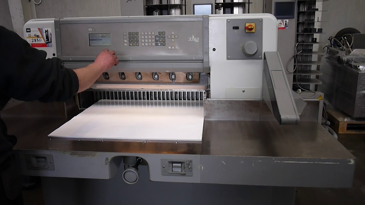 polar 78 e paper cutter for sale gab supplies ltd 1999 youtube rh youtube com
