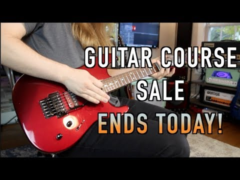 Biggest Guitar Course Sale Ends Today!