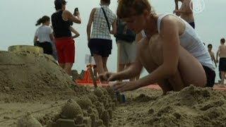 Замки из песка для взрослых построили в Нью-Йорке (новости)