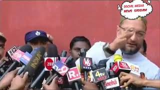 # MIM # MP~ ASADUDDIN OWAISI ~FUNNY TALKING WITH MEDIA 😁 ABOUT ...