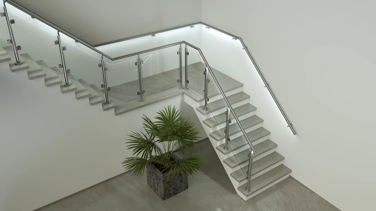 Led Handrail Illunox® Stair Safety Style For In Outdoor Usage   Lighted Handrails For Stairs   Wrought Iron Railing   Minimal   Antique   Basement   Stair Banister