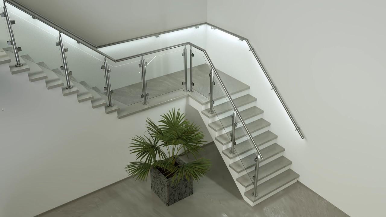 led handrail illunox stair safety