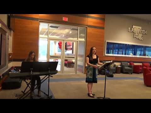 Performing with Mary at the Louisiana Tech Engineering Senior Design Consortium Kick-off Meeting