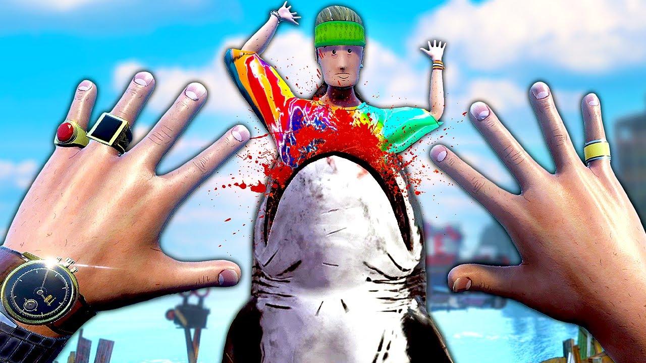 Shark EATS My Friend in ONE Bite - Sam & Dan Floaty Flatmates Gameplay