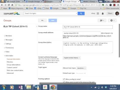 Google Groups for Discussion Forums