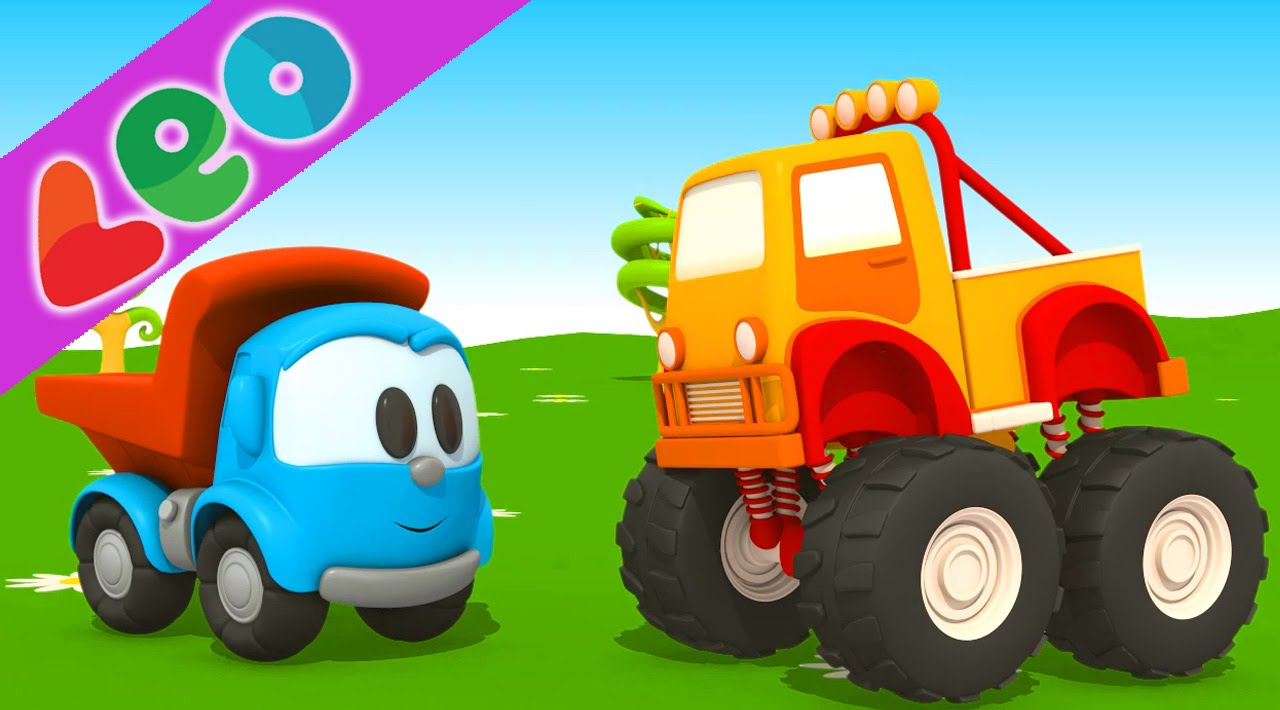 Léo Le Camion Curieux Le Monster Trucks Dessin Animé Youtube